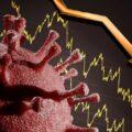 koronawirus i wykres z tendencją spadkową