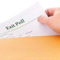 Koperta z badaniem Exit poll