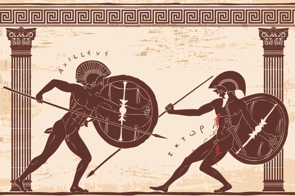 Walka Achillesa i Hektora, wojna trojańska