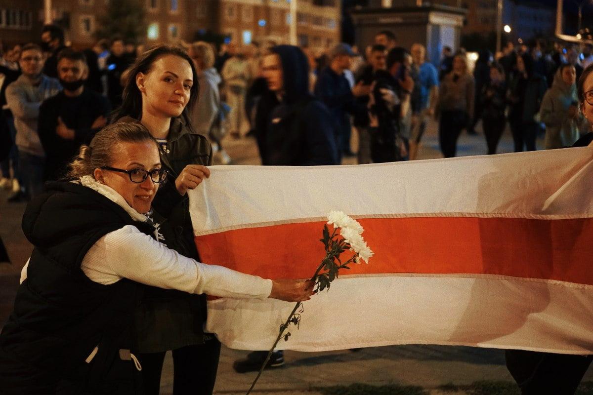 Biało-czerwono-biała flaga Białorusi