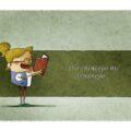 Dziewczynka czyta książkę z przysłowiami