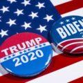 znaczki z nazwiskami kandydatów na prezydenta USA
