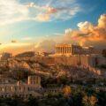 Starożytne ruiny w Atenach
