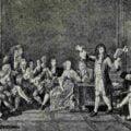 Barok. Molier prezentujący swoje dzieło