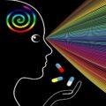 wizualizacja kolorowych doznań po narkotykach i dopalaczach
