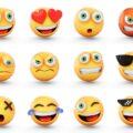 Emoji wyrażające różne emocje